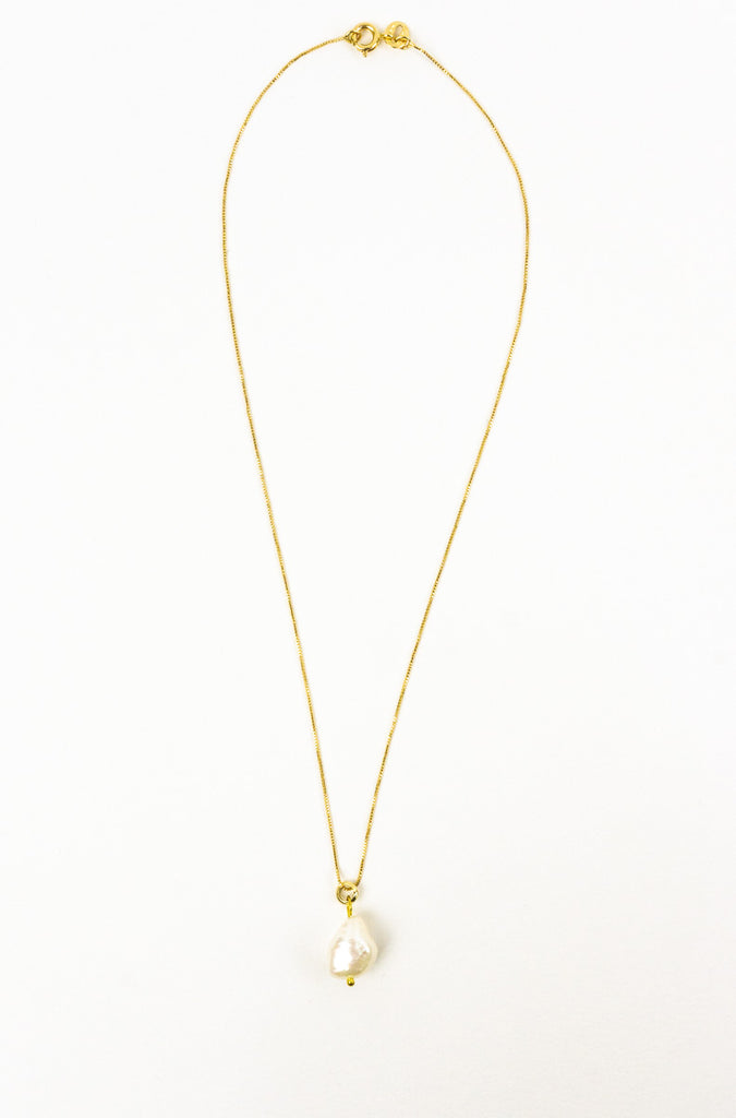 Corinne Pearl Drop Necklace