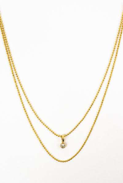 Chiara Gold Duo Necklace