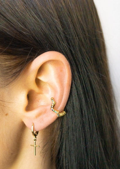 Tia Jeweled Ear Cuff