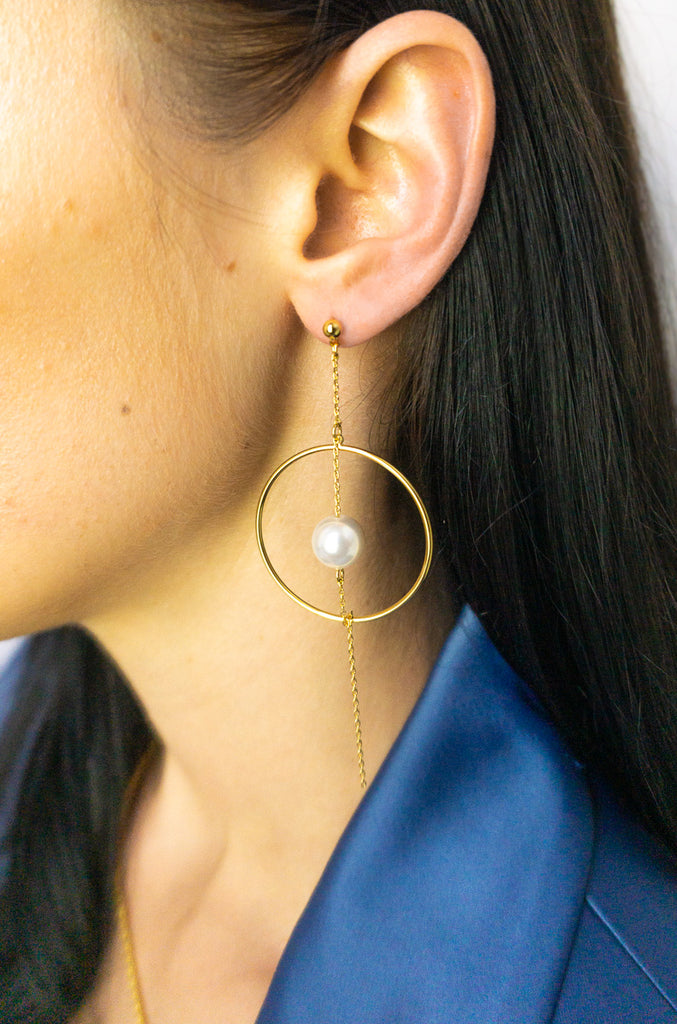 Leonie Pearl Drop Earrings