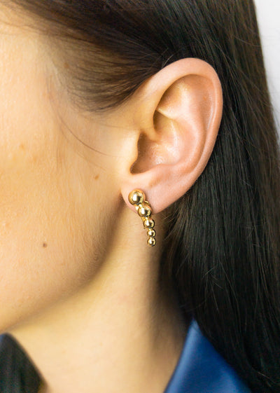 Luna Descending Gold Dot Studs