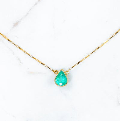 Cleo Thea Emerald Necklace