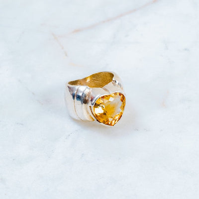 Citrine Heart Ring