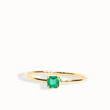 Stackable Emerald Ring