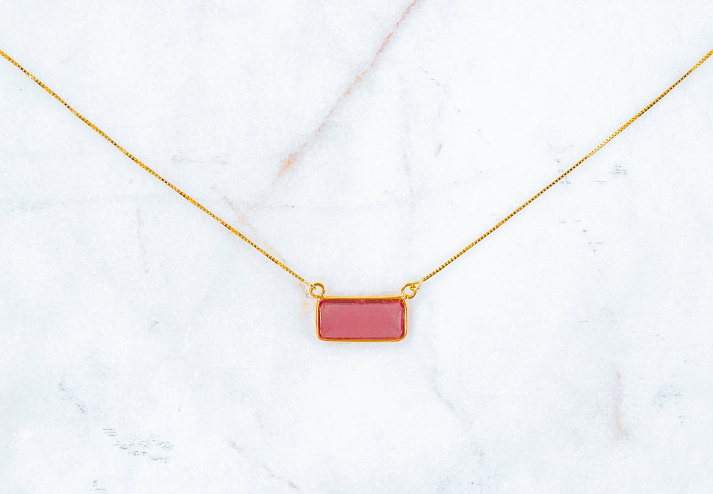 Anouk Pink Tourmaline Necklace - Fine Jewelry