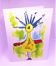 Load image into Gallery viewer, Bad Hair Day Bird Greeting Card