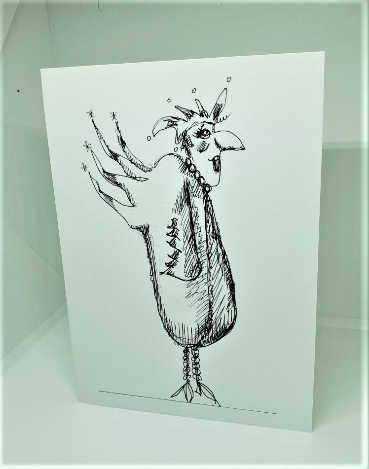 Chicken with a Huge Beak Greeting Card