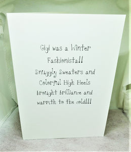 Winter Fashionista Greeting Card