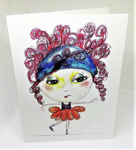 Little Girl with the Curly Red Hair Greeting Card