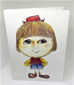 Little Girl with a Little Red Hat Greeting Card