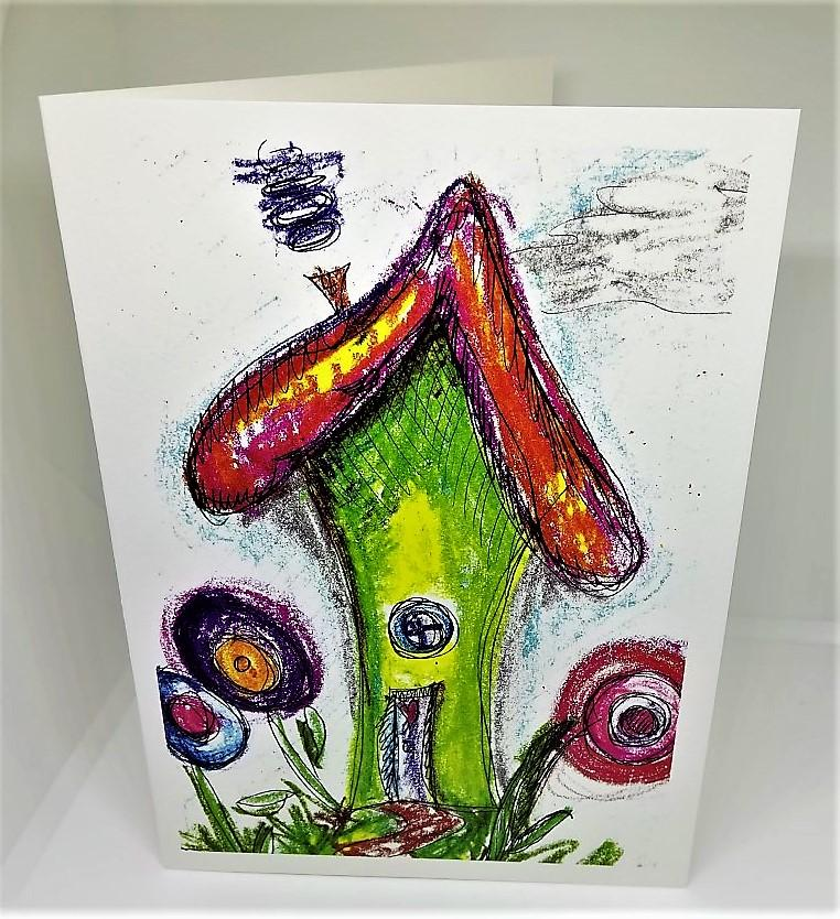 Little Elf House Greeting Card