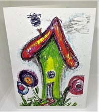 Load image into Gallery viewer, Little Elf House Greeting Card