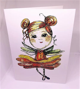Little Girl with Wings and TuTu Greeting Card