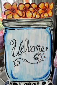 TUESDAY AUGUST 20  MASON JAR  Front Door Hanger Class