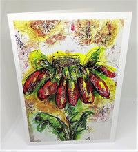 Load image into Gallery viewer, Brilliant Red Daisy Greeting Card