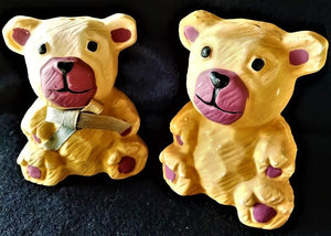 Ceramic Teddy Bear Salt and Pepper Shakers Vintage