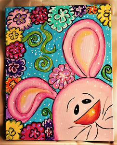 WEDNESDAY MARCH 11 Let's Paint a BUNNY at the Moonrise Brewing Company