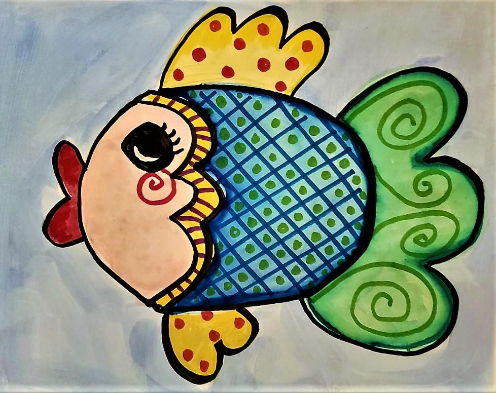 WEDNESDAY AUGUST 14 --- KIDS ART CLASS - COLORFUL FISH