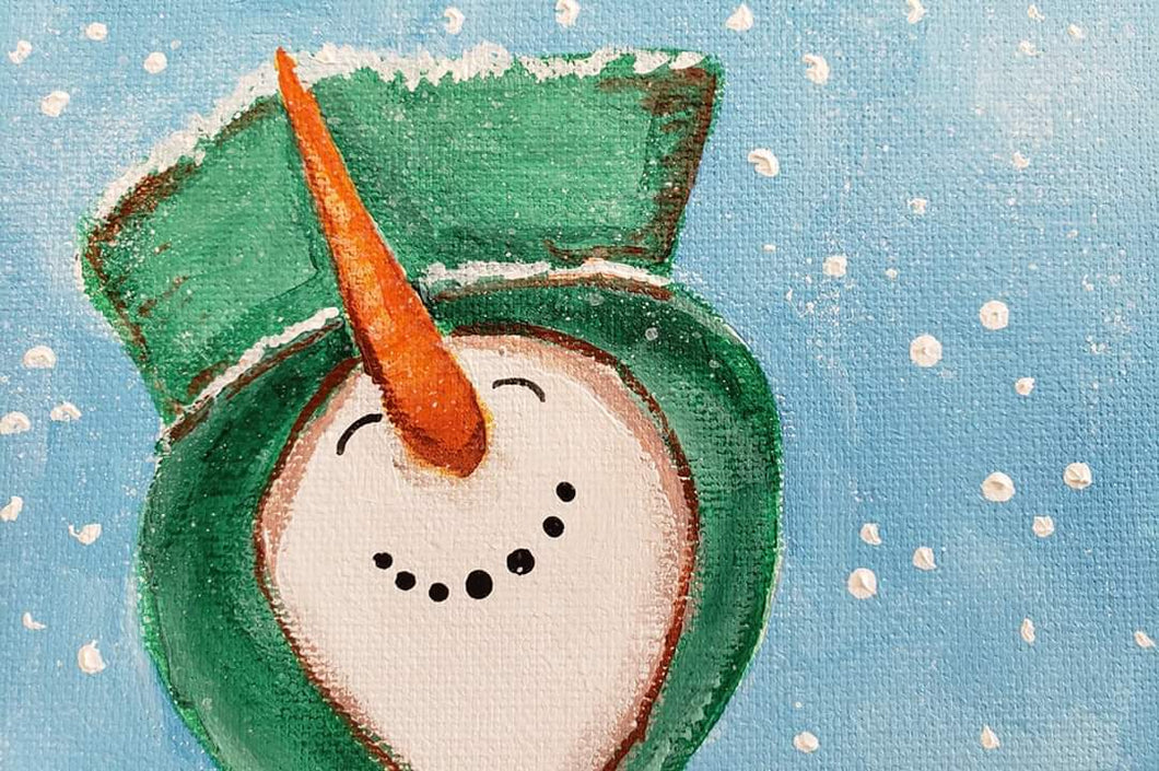 Sunday November 10 Snowman with a Top Hat Painting Class