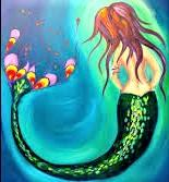 Load image into Gallery viewer, WEDNESDAY JANUARY 8 Let's Paint a MERMAID at the Moonrise Brewing Company!