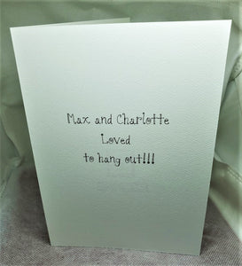 Max and Charlotte Greeting Card