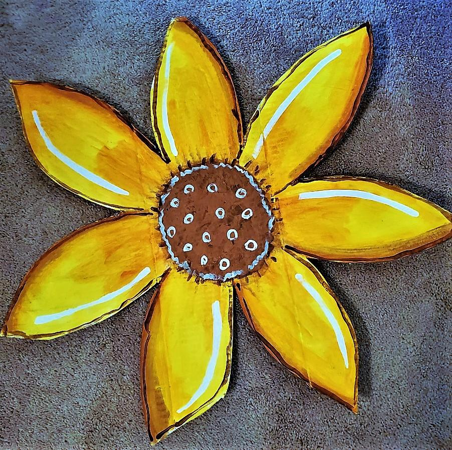 TUESDAY AUGUST 13 SUNFLOWER Front Door Art CLASS