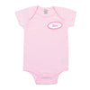 BABY - Personalized One Piece - Short Sleeve - Pink