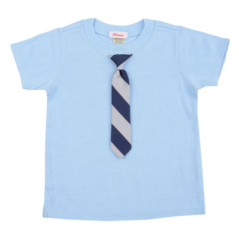 BABY - Little Man Tie Tee - Short Sleeve - Baby Blue
