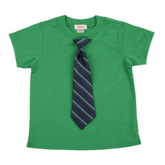 KID - Little Man Tie Tee - Short Sleeve - Green