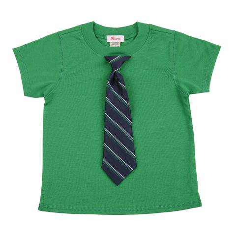BABY - Little Man Tie Tee - Short Sleeve - Green