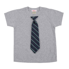 BABY - Little Man Tie Tee - Short Sleeve - Heather Gray