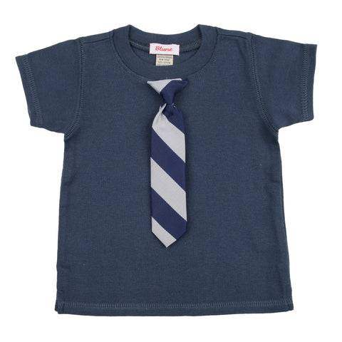 KID - Little Man Tie Tee - Short Sleeve - Navy