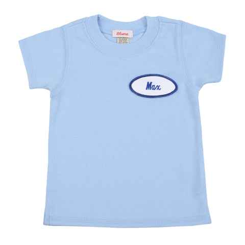 BABY - Personalized Tee - Short Sleeve - Baby Blue