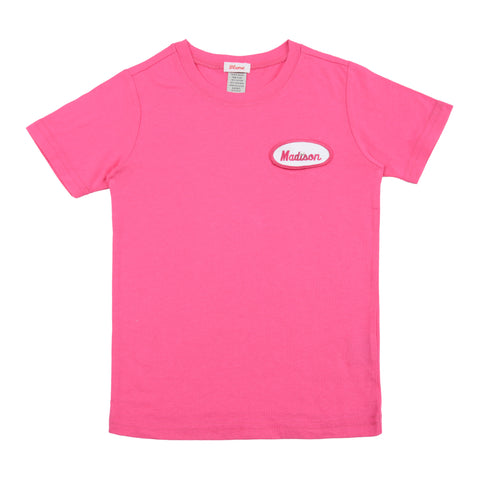 KID - Personalized Tee - Short Sleeve - Hot Pink