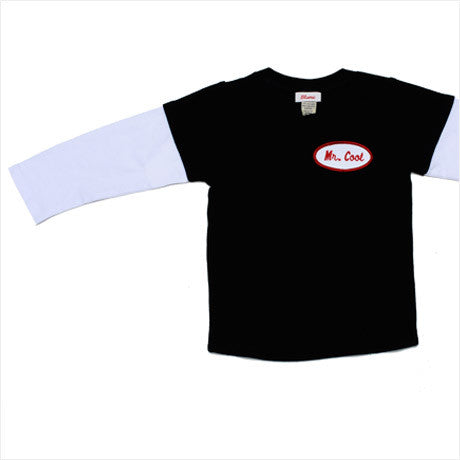 KID - Personalized Layered Tee - Long Sleeve - Black