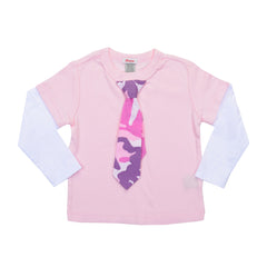 KID Little Lady Layered Tee - Long Sleeve - Pink
