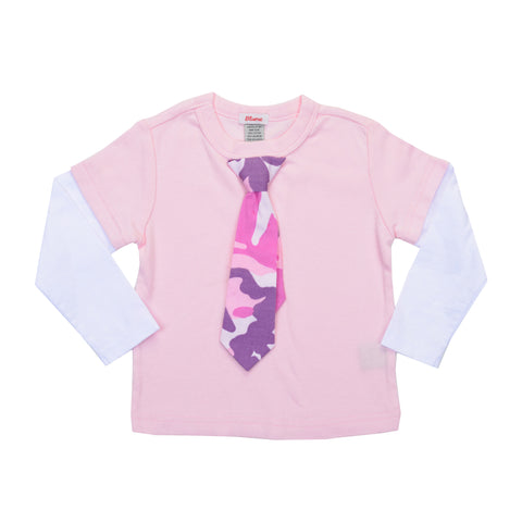 BABY Little Lady Layered Tie Tee - Pink