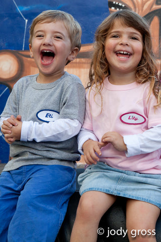 KID - Personalized Layered Tee - Long Sleeve - Pink