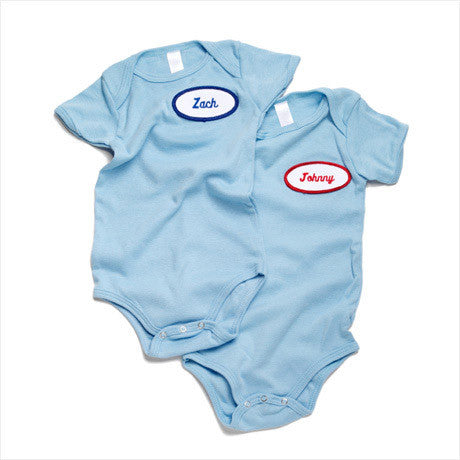 BABY - Personalized One Piece - Short Sleeve - Baby Blue