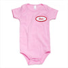Pink onesie w/ Red name