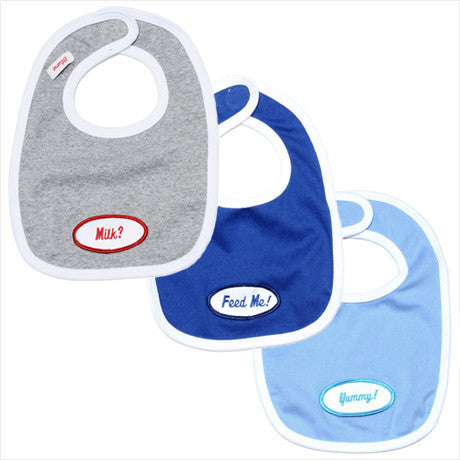 BABY - Personalized Bibs - Set Of 3 - Boy