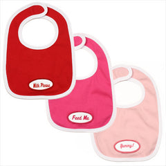 Girls *set of 3* red/ hot pink/ baby pink