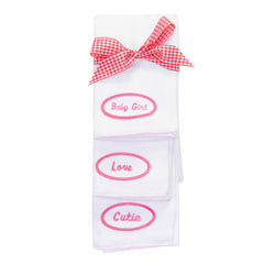 BABY - Personalized Burp Cloths - Pink