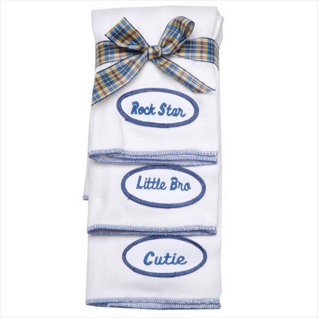 BABY - Personalized Burp Cloths - Royal Blue