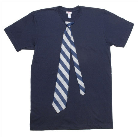 MEN - Big Man Tie Tee - Short Sleeve - Navy
