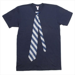 Navy shirt w/ Silver stripe tie