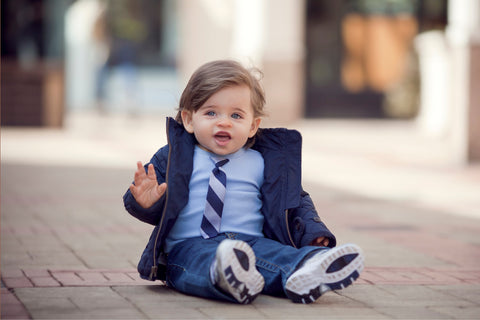 KID - Little Man Tie Tee - Short Sleeve - Baby Blue