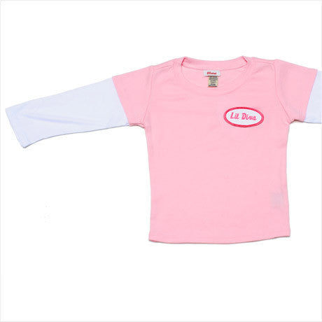 BABY - Personalized Layered Tee - Long Sleeve - Pink