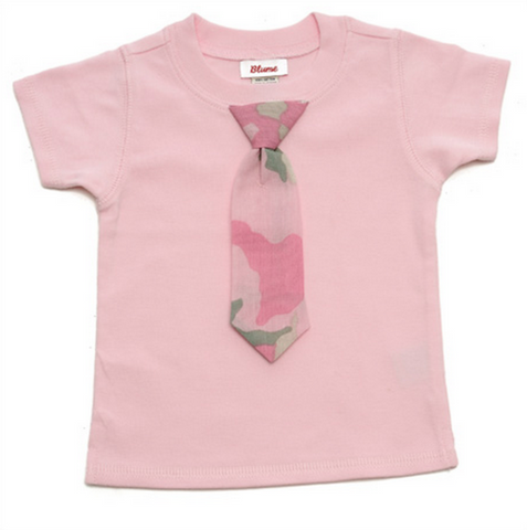 BABY Little Lady Tie Tee - Short Sleeve - Pink
