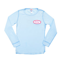KID - Personalized Thermal - Long Sleeve - Baby Blue